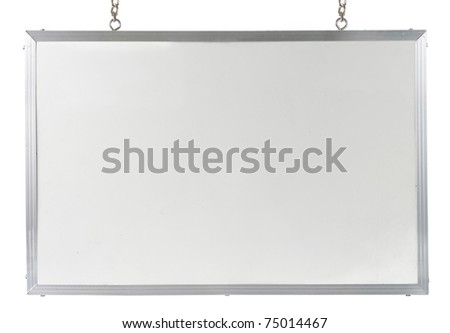 White board isolated over white background - stock photo