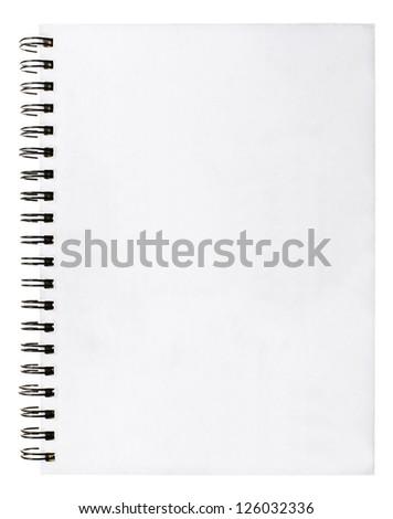 White book on white background. - stock photo