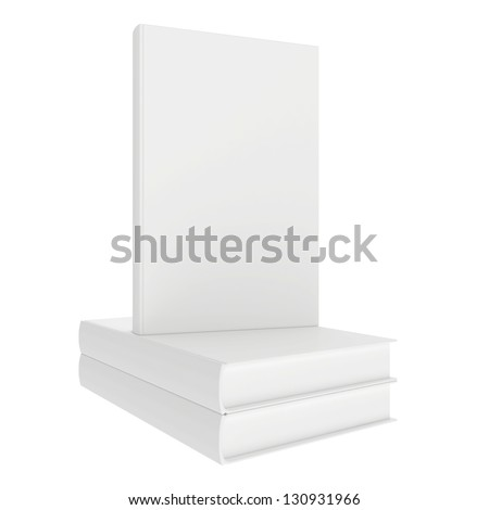 white books - stock photo