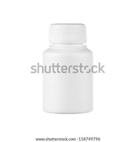 white bottle isolated - stock photo