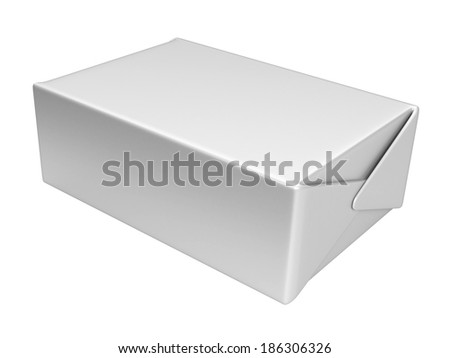White box. 3D illustration isolated on a white background