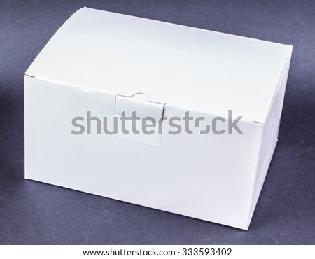 white box on a black background