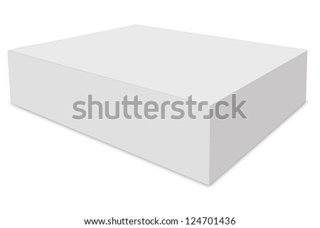 White box on isolated background.( with clipping path ) - stock photo