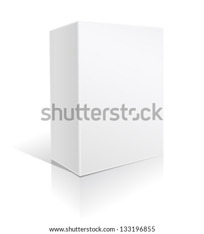 white box on white