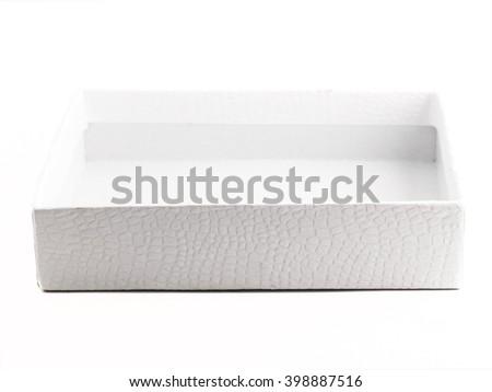 White box over on a white background - stock photo