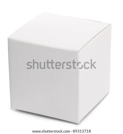 White box over white background. - stock photo