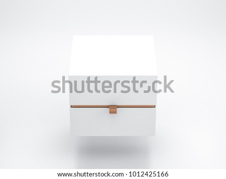 White Box packaging Mockup Front View. Place your design here, 3d rendering
