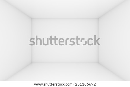 White box with dark edges inside - stock photo