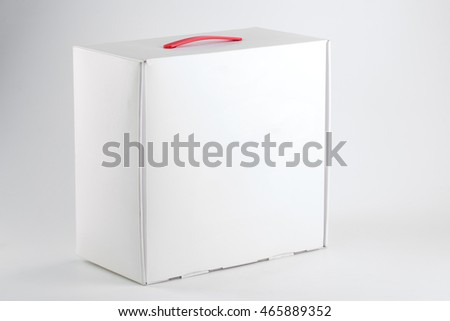white box with handle