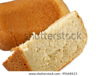 white bread baked in Bread