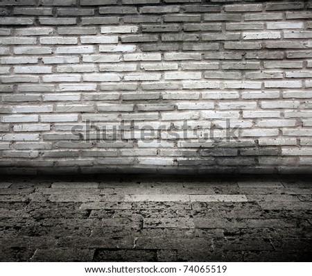 white brick room - stock photo