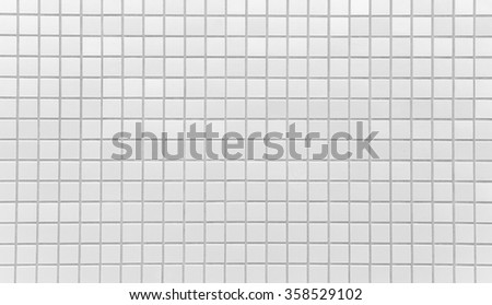 White brick tile wall texture and background seamless  - stock photo