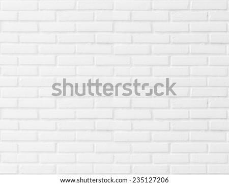 White brick wall - stock photo
