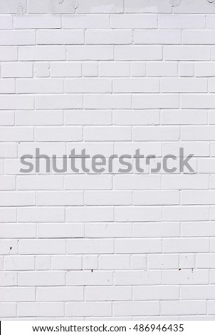 White Brick Wall Background Vertical Composition