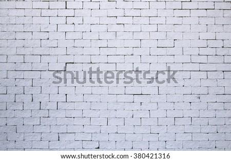 white brick wall for texture background - stock photo