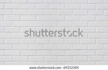 White brick wall, perfect as background or texture - stock photo