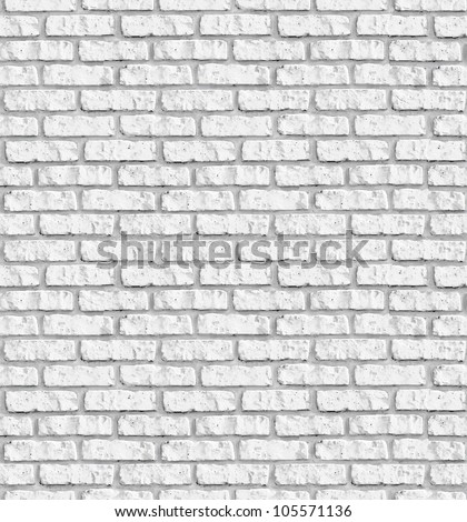White brick wall seamless background - texture pattern for continuous replicate.  See more seamless backgrounds in my portfolio. - stock photo