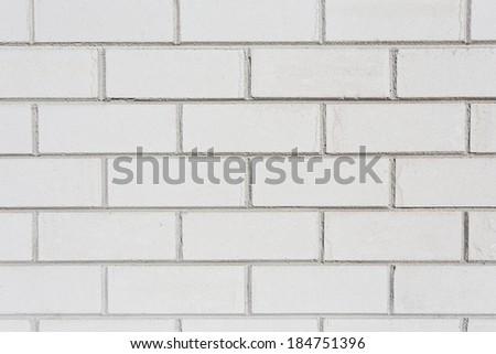 White brick wall. Seamless photo background texture - stock photo