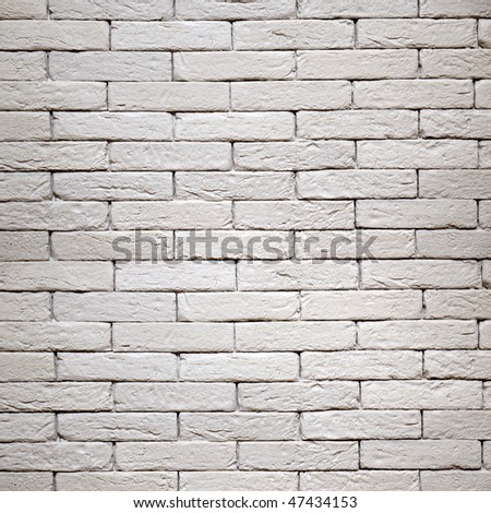 white brick-wall texture - stock photo