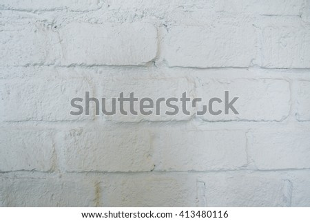 White brick wall texture and background. - stock photo