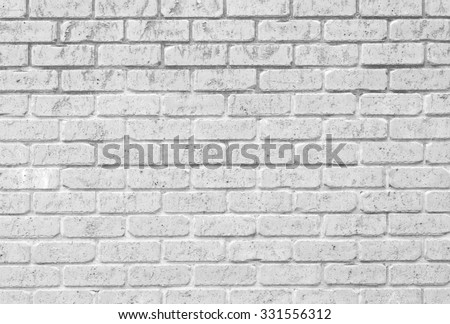 White brick wall texture and background seamless - stock photo