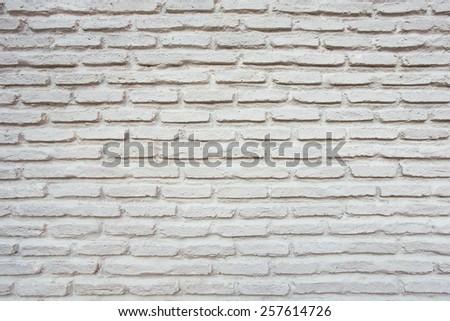 white brick wall  texture background - stock photo