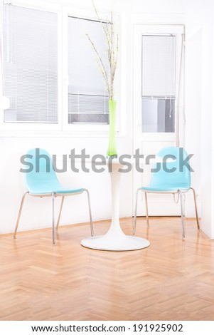 Blue Contemporary Dining White Stock Photos, Blue Contemporary ...