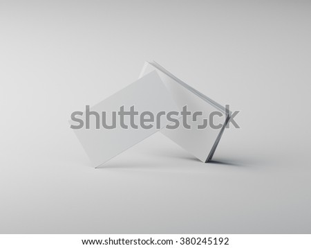 white business cards mockup - stock photo