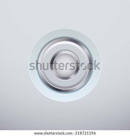 White button on a bright background. illustration