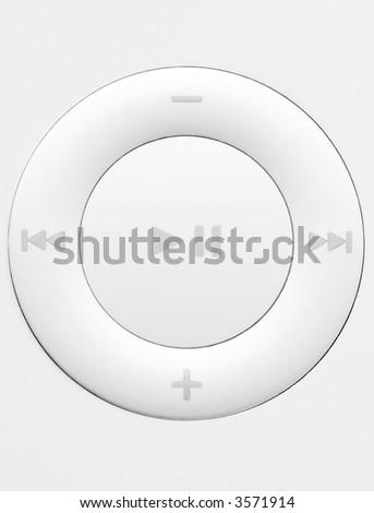 white button on a remote - stock photo