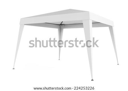 White Canopy Tent on a white background - stock photo