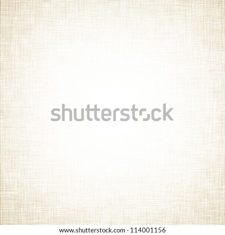 white canvas fabric texture background with yellow grid pattern vignette - stock photo