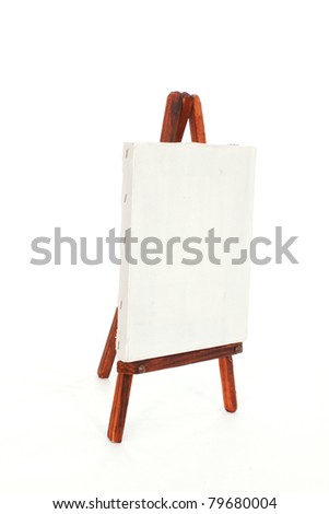 White canvas on an easel