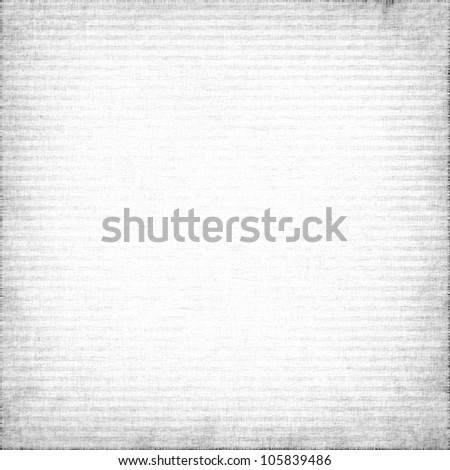white canvas texture, square stripes background with delicate vignette - stock photo