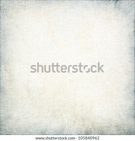 white canvas texture with delicate stripes pattern and vignette, grunge background - stock photo