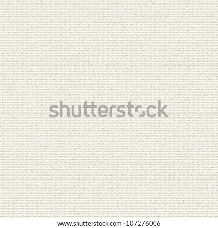 white canvas texture with delicate strips pattern seamless background - stock photo