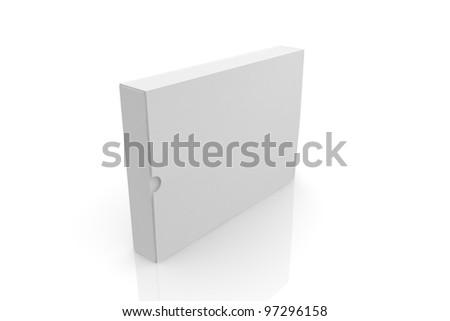 White cardboard - stock photo