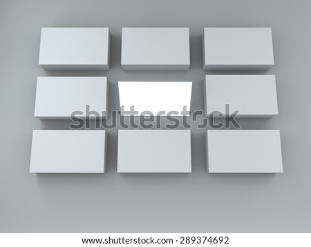 white cards on grey  background . Template for branding identity. For graphic designers presentations and portfolios.