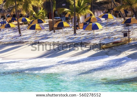 White Caribbean Beach With Turquoise Water