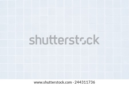 White ceramic tile with 160 squares in rectangular form - stock photo
