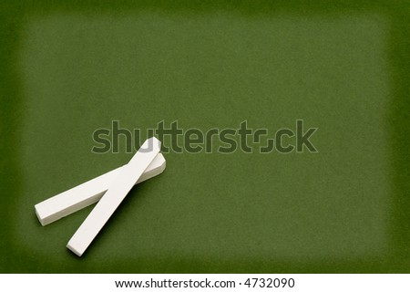white chalk and board - stock photo