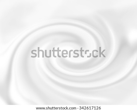White cheese cream. Snowy white mousse texture. Yogurt ice cream background. Tasty liquid texture of milky smooth product. Sweet food silky texture. Creamy dairy product. - stock photo