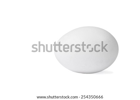 White chicken egg on a white background  - stock photo