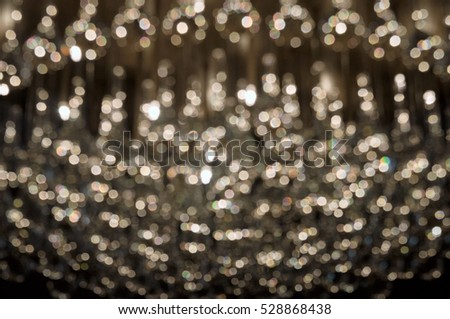 white christmas lights in a round pattern as a background