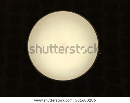 White circle on black background