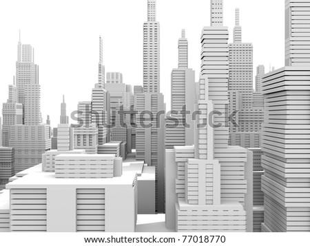 White city - stock photo