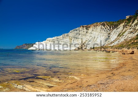 white cliff named Scala dei Turchi near Agrigento, Sicily