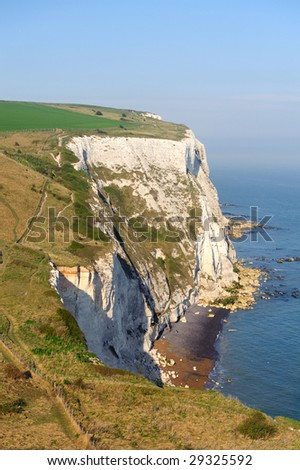 White Cliffs of Dover - stock photo