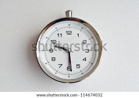 White clock on white screen, Thailand. - stock photo