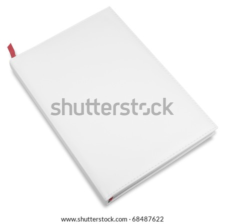 white closed business book isolated over white background - stock photo